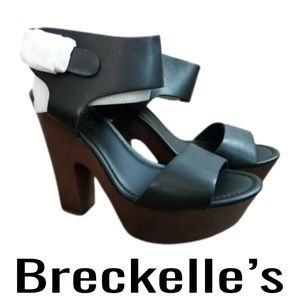 "NEW Breckelle's ""Rudy"" Shoes Black Brown Size 8"
